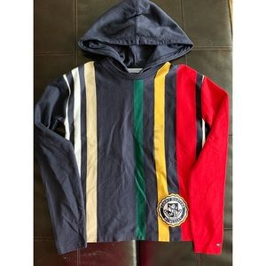 NWT Tommy Hilfiger Archived Cropped Striped Hoodie